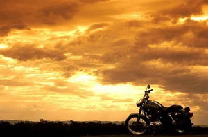 Motorcycle Riding Into The Sunset http://lanas20something.blogspot.com ...