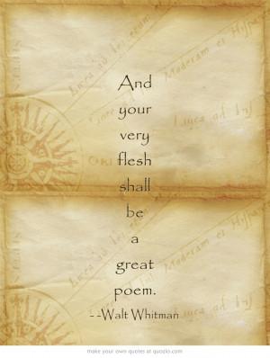 Walt Whitman #quotes #poetry