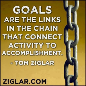 Goals are the links in the chain that connect activity to ...