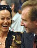 Ralph Fiennes and Amanda Harlech