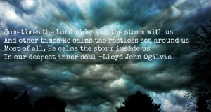 storm clouds with quote