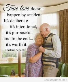 True love image with old people quote on wallpaper relationship, life ...