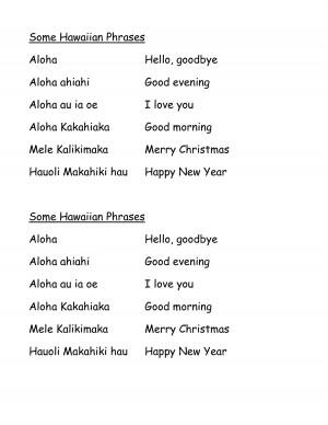 Phrases in Hawaiian by rur27363
