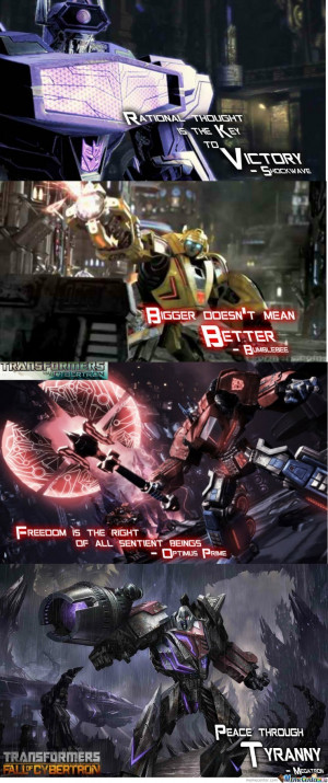 ... use the form below to delete this some cool transformers game quotes