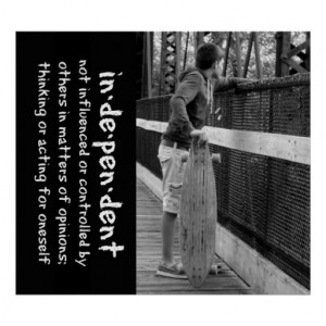 Longboard Teen Attitude Quote Print