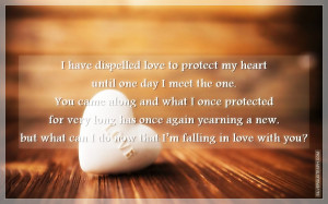 Love To Protect My Heart Until One Day I Meet The One, Picture Quotes ...