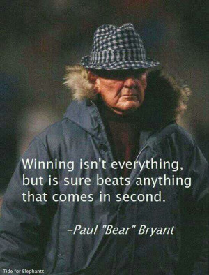 Coach Bryant on Winning. #SEC www.RollTideWarEagle.com Sports stories ...