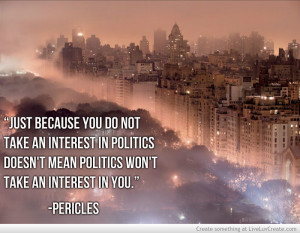 Pericles Quotes Politics