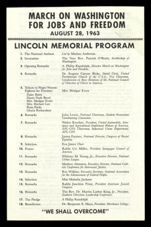 March On Washington 1963 Program