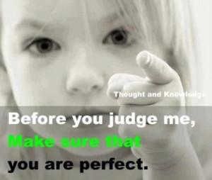 Being judgemental