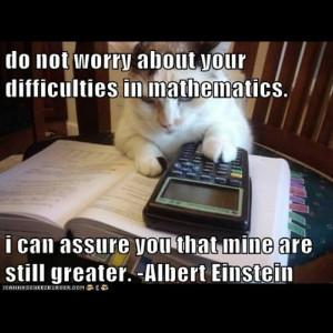 einstein math difficulties quote cat