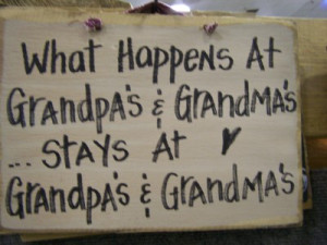 Grandmas sign-funny wood sign, grandpa grandma sign, silly plaque ...