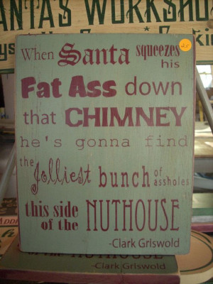 Typographic Graphic Christmas Vacation Clark by ShabtownSigns, $23.00