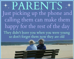 Take Care Of Your Parents...