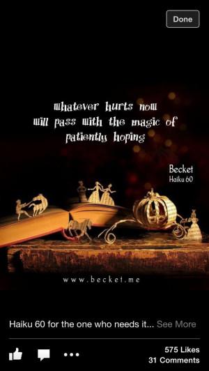Another great Becket Haiku.