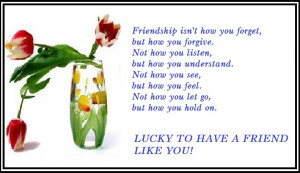 Lucky Friend Greeting Card of Friendship's Day