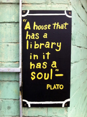 book, books, house, library, message, plato, quote, reading, soul ...