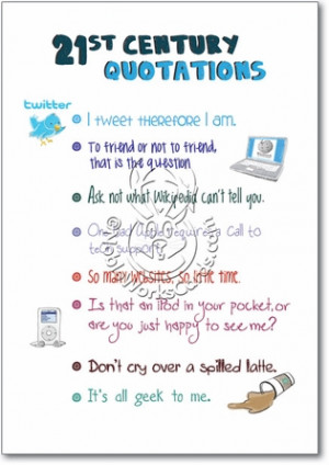 Modern Day Quotes Unique Humorous Birthday Paper Card Nobleworks