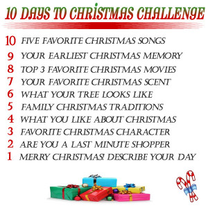 Day 10- Five Favorite Christmas Songs: