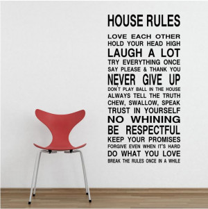 HOUSE-RULES-English-Quote-Vinyl-Wall-Decals-60-120cm-Removable-Wall ...