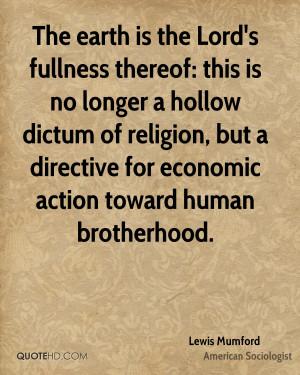 Lewis Mumford Religion Quotes
