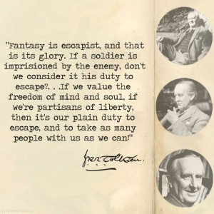 Tolkien on fantasy. I want to hang this in my room.
