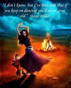 American Hippie Quotes ~ Dance! Lyrics, Steve Miller More