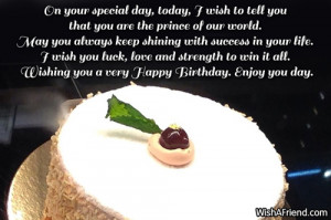 Birthday sayings for your son, find them right here. Send the Birthday ...