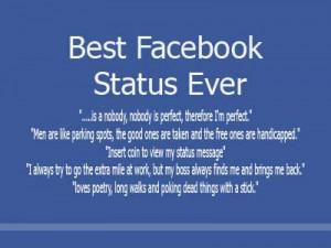 Best Facebook Status Ever - 100 best facebook status, awesome facebook