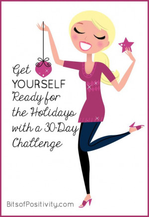 Get YOURSELF Ready for the Holidays with a 30-Day Challenge