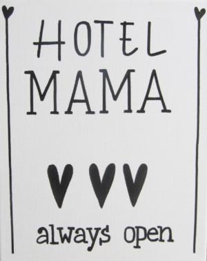 kiz quotes hotel mama 24x30 cm een tekst op canvas