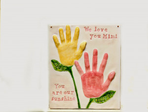 Great Gift For Grandparents of children's handprints