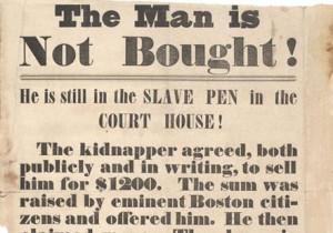 Broadside protesting re-capture of fugitive slaves, 1854 (Gilder ...
