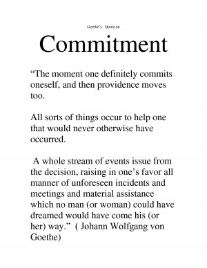 committed how can you accomplish a goal without a commitment