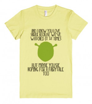 Shrek quote | Fitted T-shirt | Front
