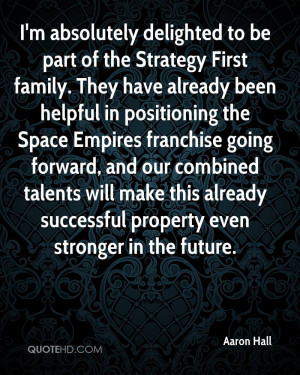 absolutely delighted to be part of the Strategy First family. They ...