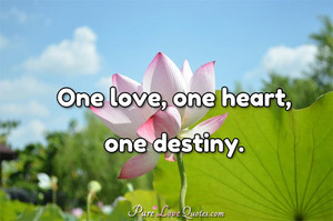 One love, one heart, one destiny.
