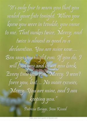 Patricia Briggs - Adam and Mercy Quote