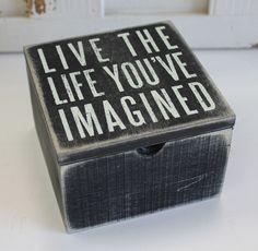 ... Box Sign Box - Primitives by Kathy from California Seashell Company