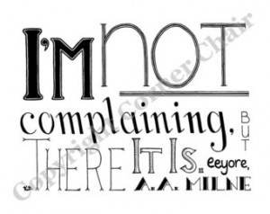 Complaining Embroidery Pattern, Eeyore Quote Embroidery Pattern, PDF ...