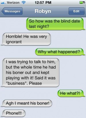 So how was the blind date last night?