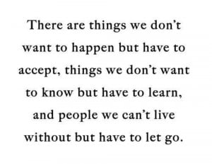 Have to let go.