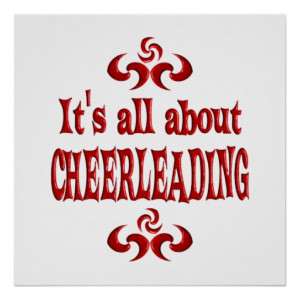 ALL ABOUT CHEERLEADING POSTER