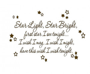 Star Light Star Bright Wall Decal - Baby Nursery Rhyme Wall Decal Poem ...