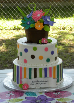 Teacher Appreciation CakeTeachers Appreciation Cake, Abstract Gardens ...