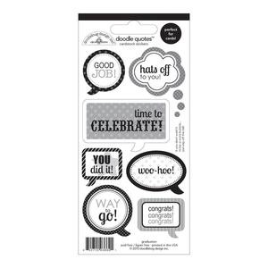 Cap And Gown Doodle Quotes Cardstock Stickers - Doodlebug