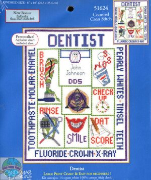 Craft: Counted Cross Stitch Title: Dentist Picture By: Candamar ...