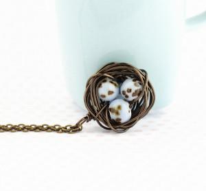 Bird Nest Necklace by JacarandaDesigns