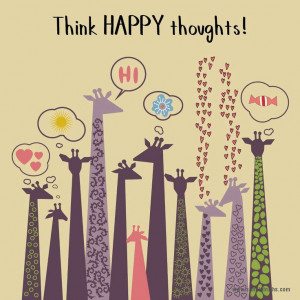 Think happy thoughts- The Grass Skirt Blog #positivity #quotes # ...