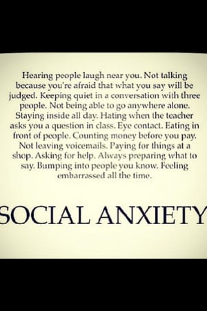 social anxiety quotes sayings